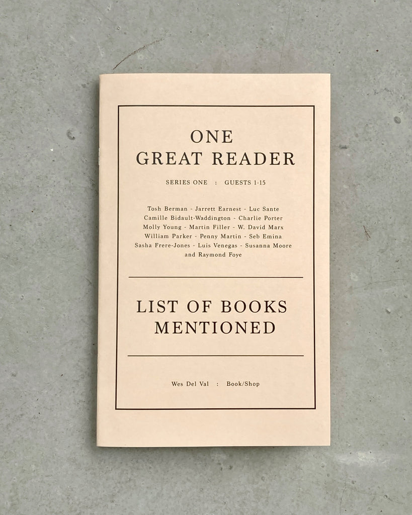 ONE GREAT READER, SERIES 1 SPECIAL BOOKLET: LIST OF BOOKS MENTIONED