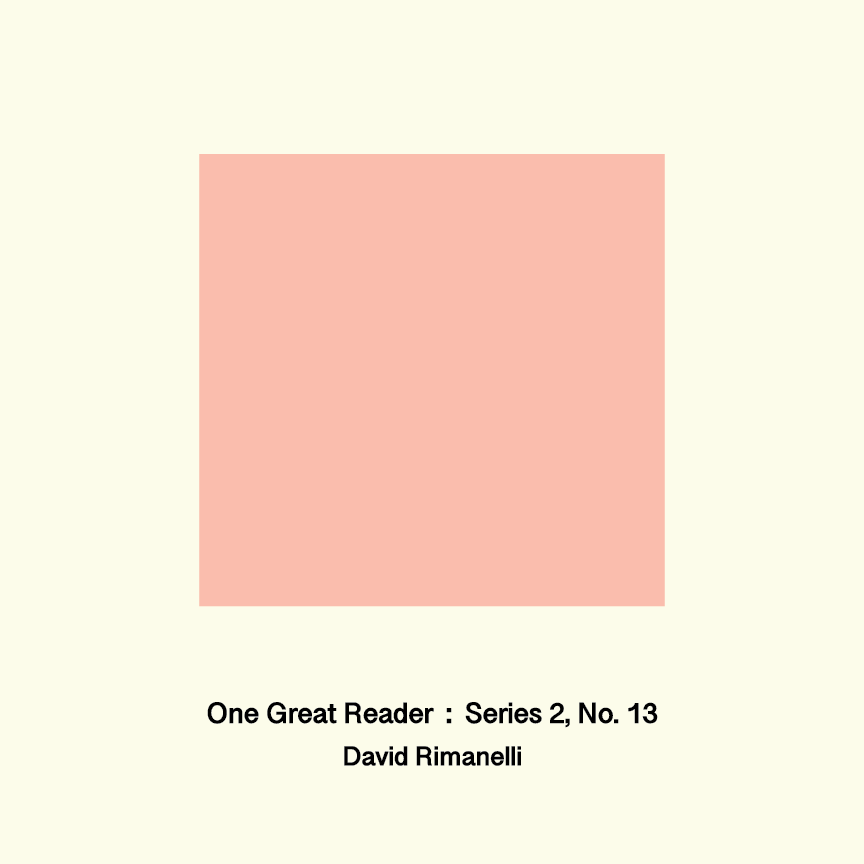 One Great Reader, Series 2, No. 13: David Rimanelli