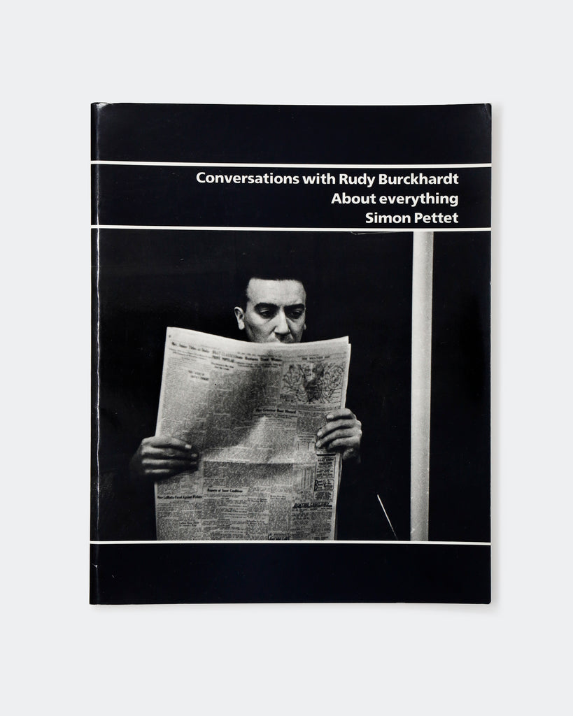 Conversations with Rudy Burckhardt About Everything Cover