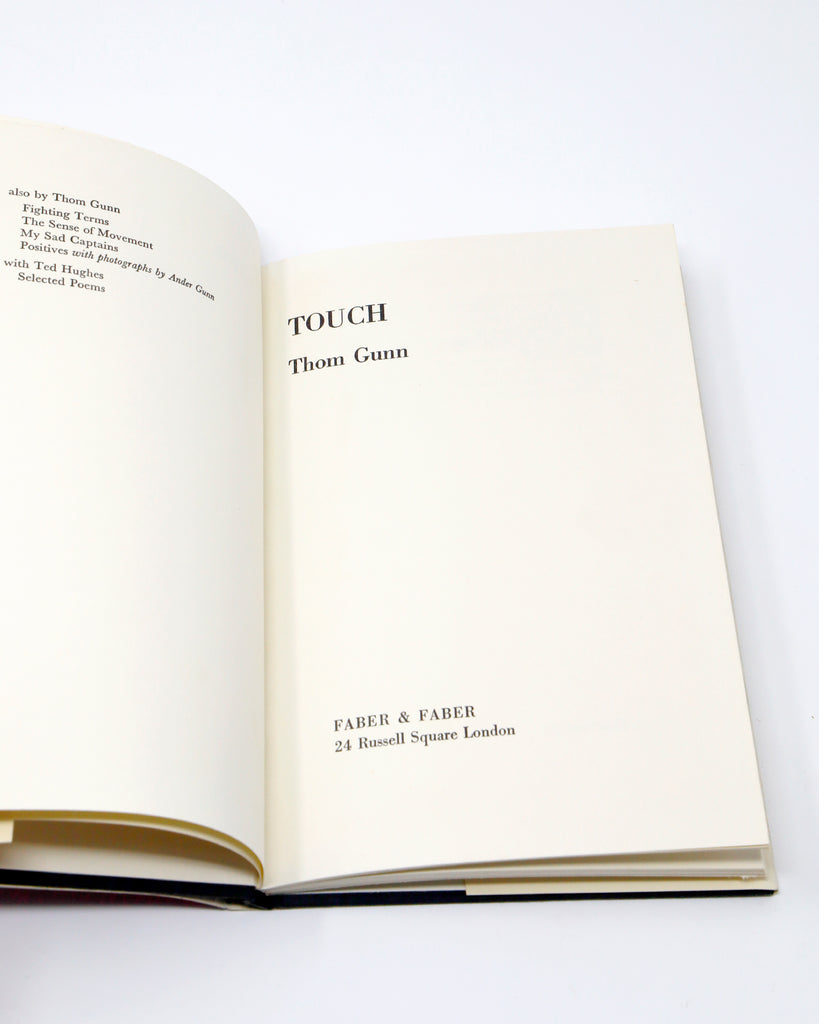 Touch: Poems by Thom Gunn