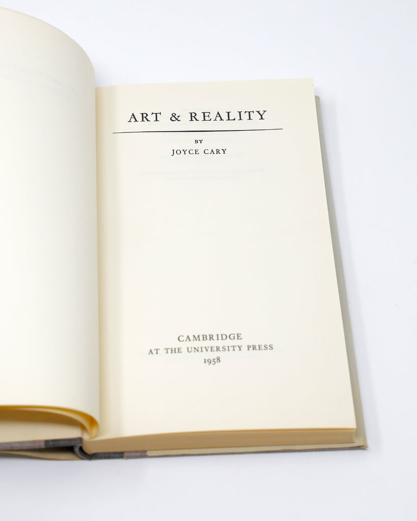 Art and Reality Title Page