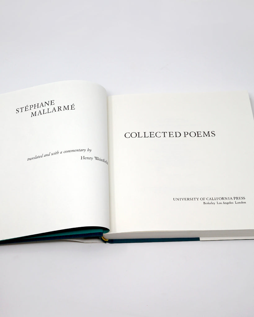 Stéphane Mallarmé Collected Poems Title Page