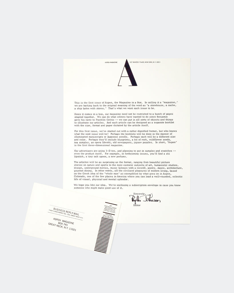 Subscription Letter