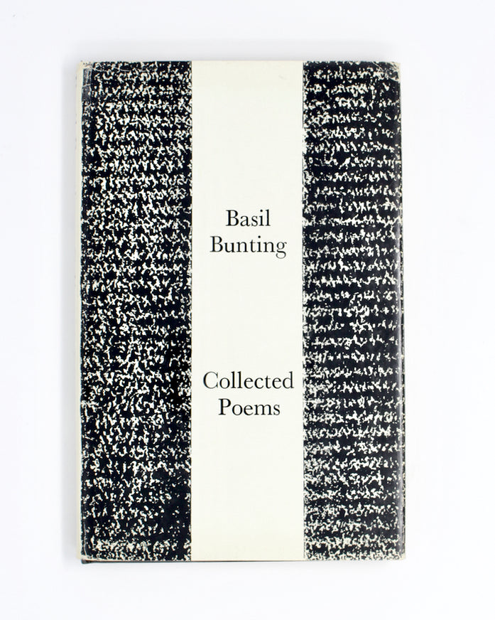 Collected Poems by Basil Bunting [Jacket by Barnett Newman]
