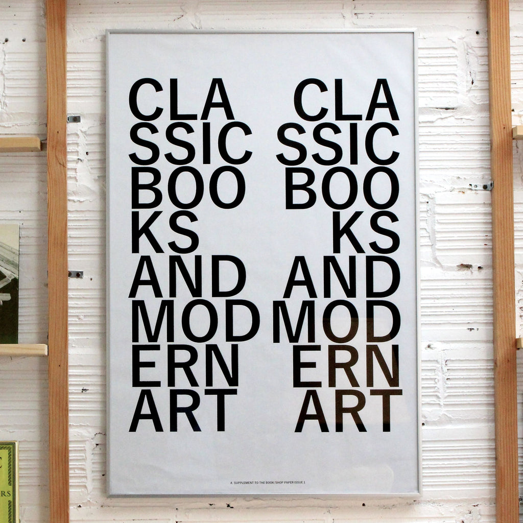 CLASSIC BOOKS and MODERN ART Print