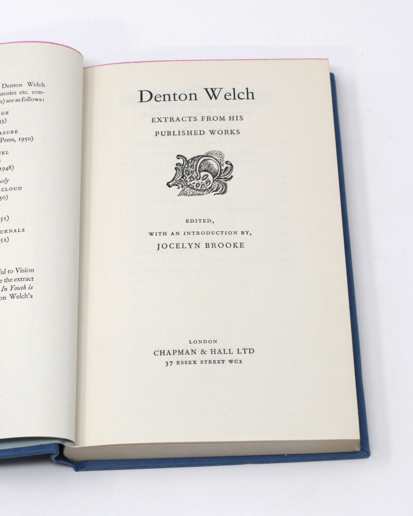 Denton Welch: A Selection from his Published Works