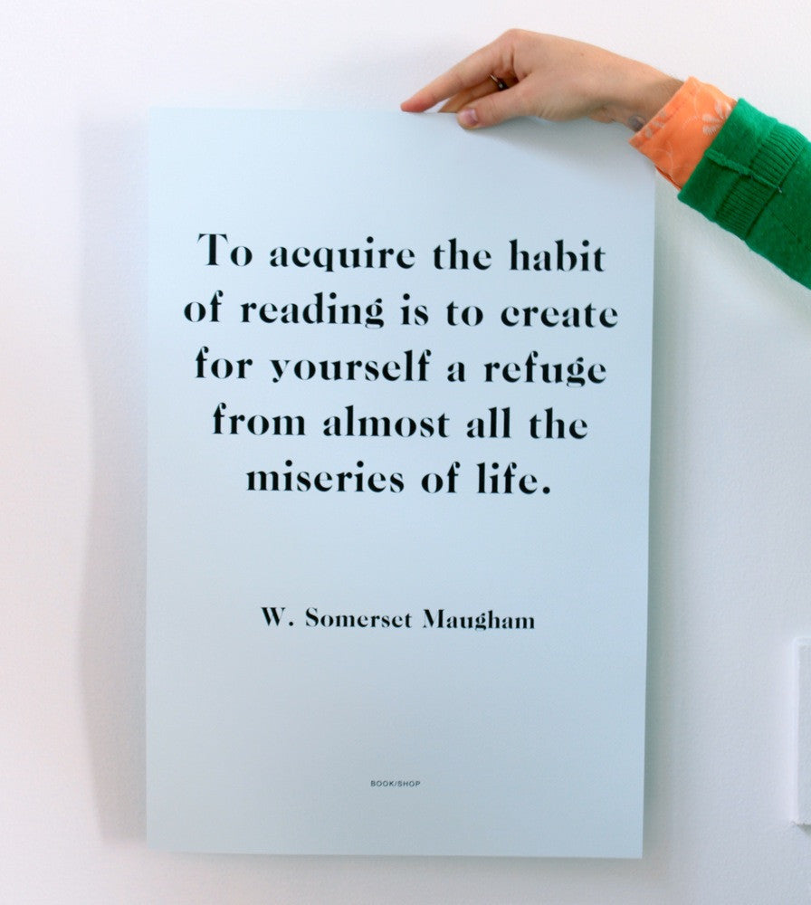 """THE HABIT OF READING"" Print"