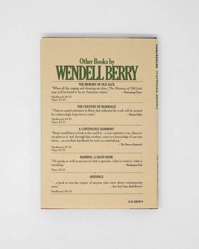 Clearing by Wendell Berry