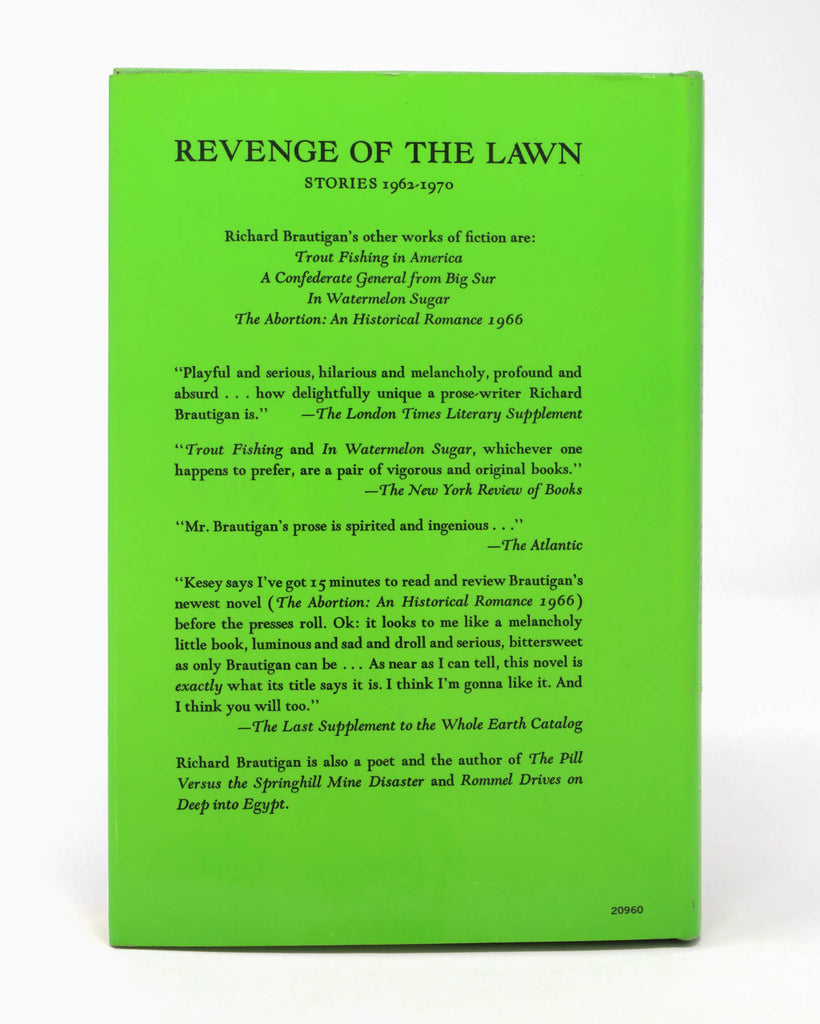 Revenge of the Lawn; Stories 1962-1970 by Richard Brautigan