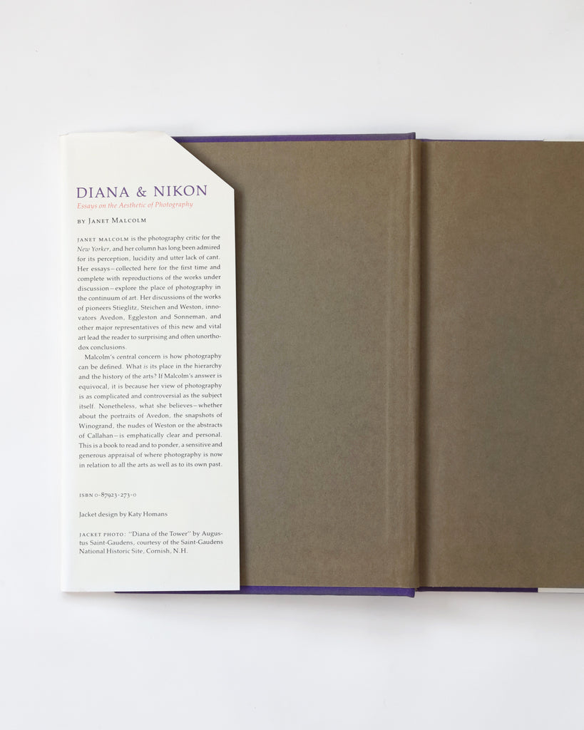 Diana & Nikon: Essays on the Aesthetic of Photography; Janet Malcolm