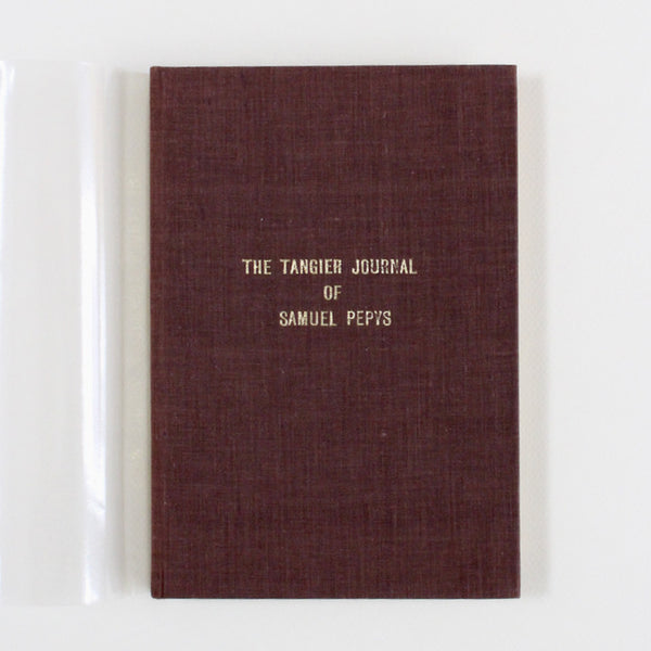 THE TANGIER JOURNAL by Samuel Pepys