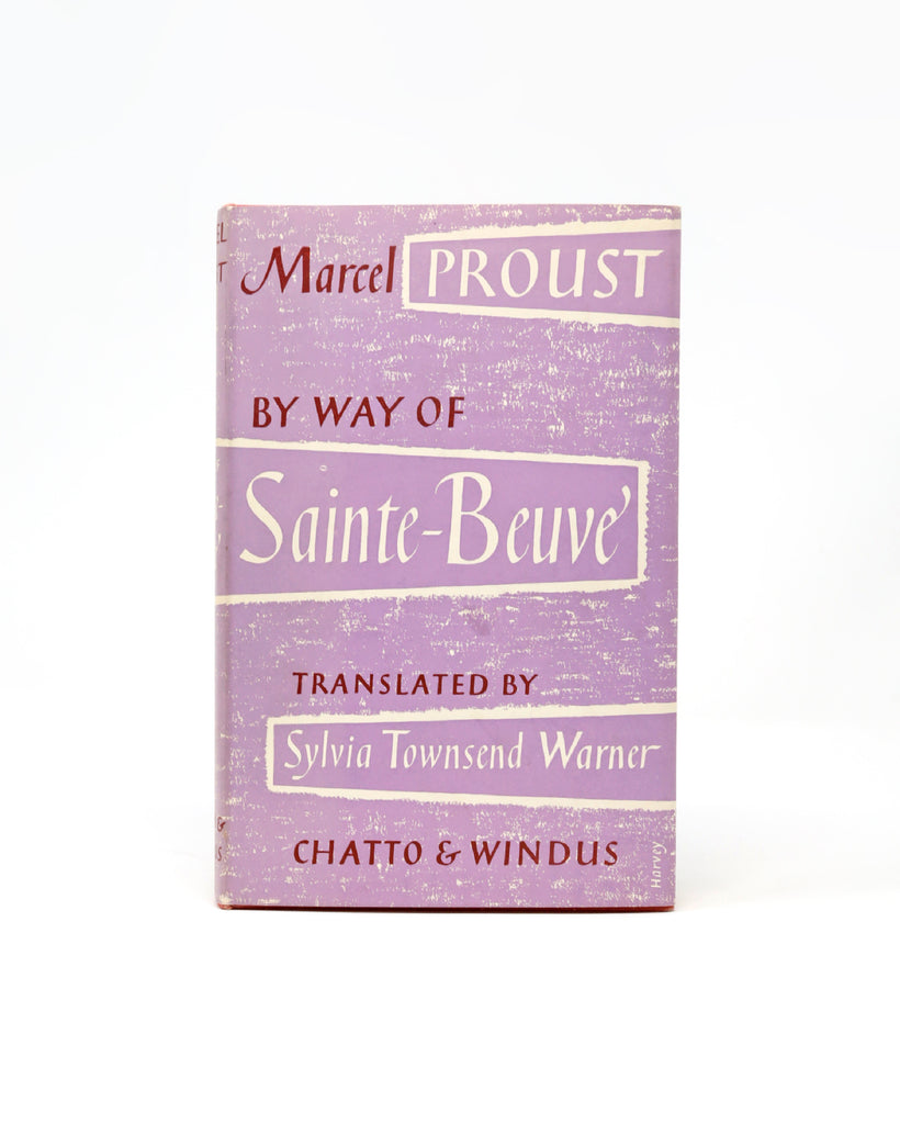 BY WAY OF SAINTE-BEAUVE BY MARCEL PROUST