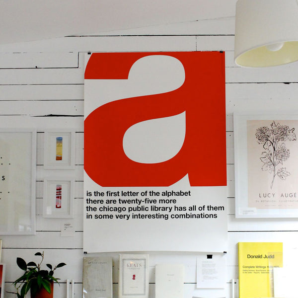"""A IS THE FIRST LETTER"" PRINT"