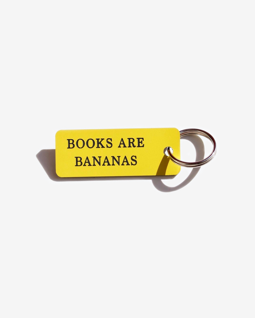 KEYTAG- BOOKS ARE BANANAS