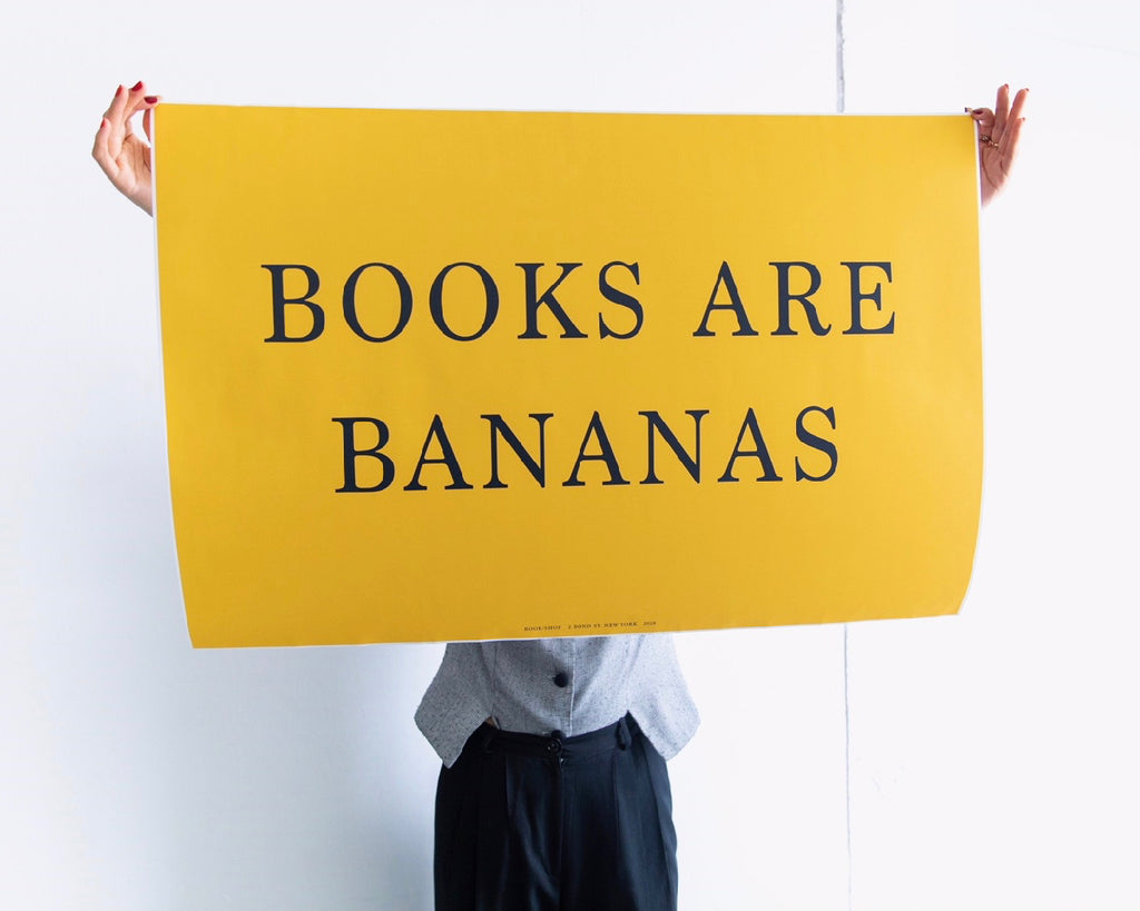 BOOKS ARE BANANAS PRINT