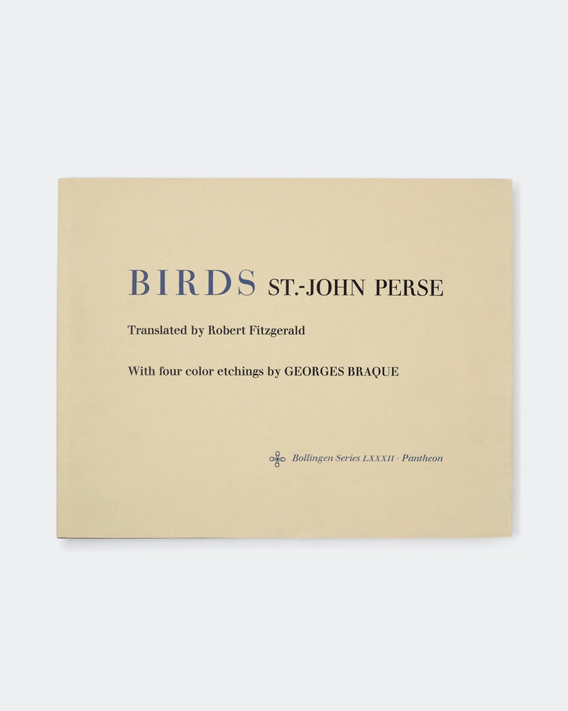 BIRDS by St.-John Perse w. 4 colour etchings by Georges Braque