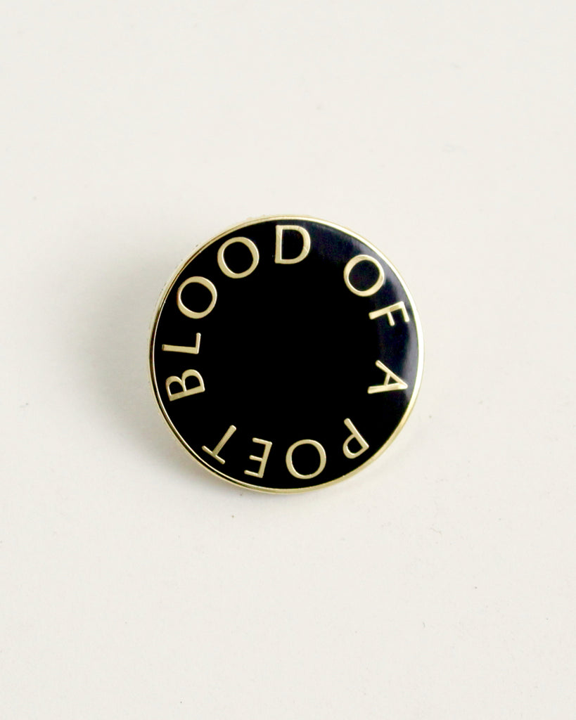 "ENAMEL PIN: ""BLOOD OF A POET"""