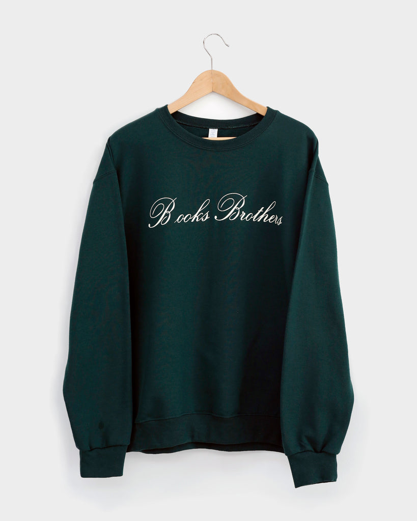 """B OOKS BROTHERS"" SWEATSHIRT: Forest Green"