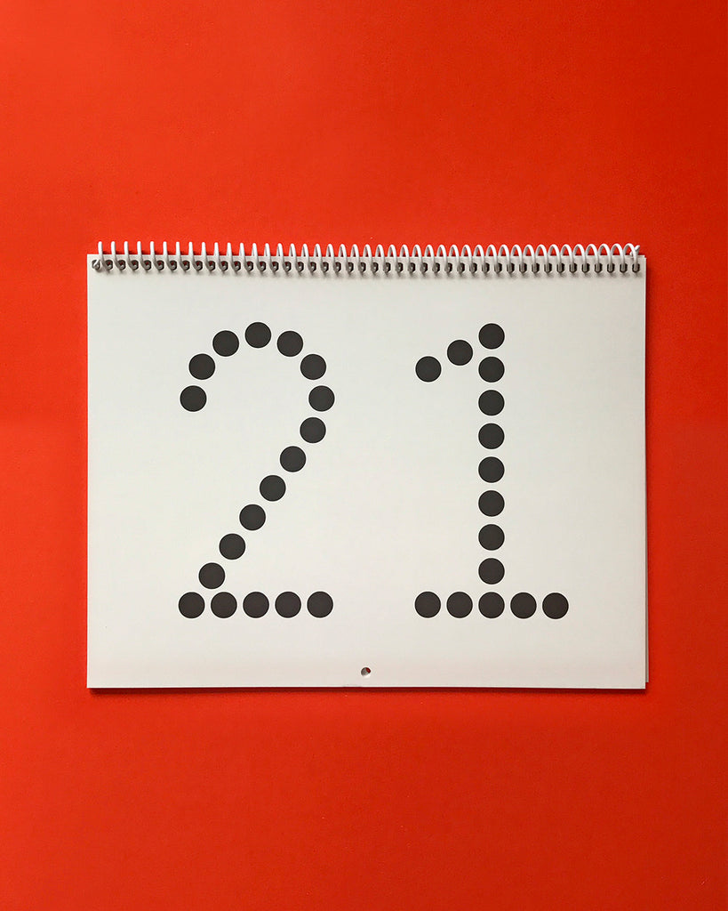 2021 Typographic Wall Calendar