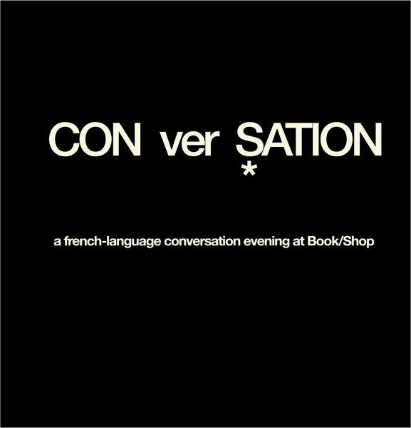 Conversation Evening (in French) at Book/Shop Oakland