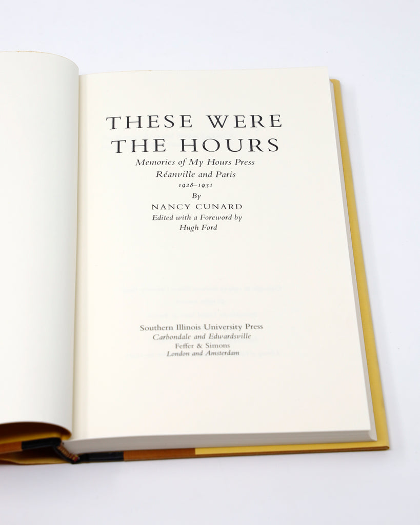 These Were the Hours Title Page