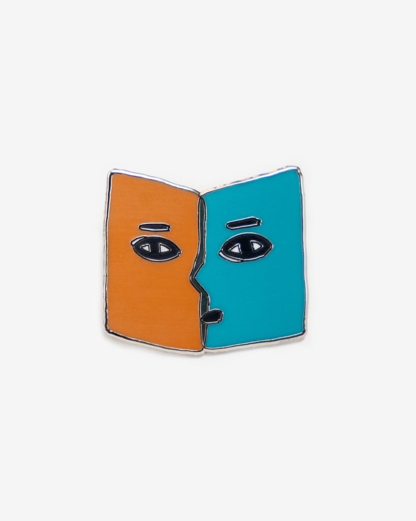 Enamel Pin: BOOK PERSON