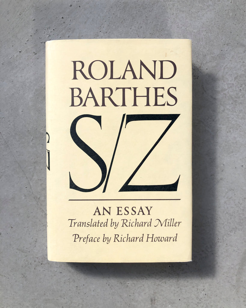 S/Z: An Essay by Roland Barthes (Eng.)