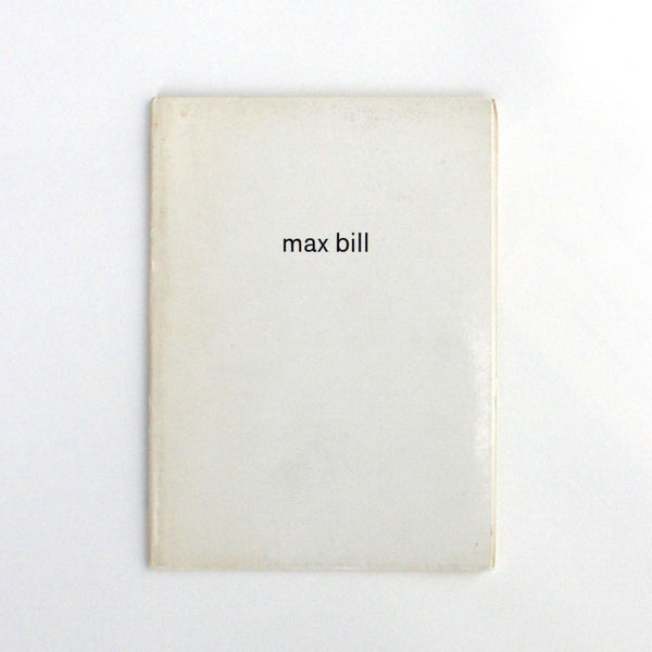 MAX BILL by Max Bense
