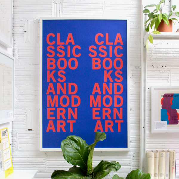 CLASSIC BOOKS and MODERN ART PRINT (Color Editions)