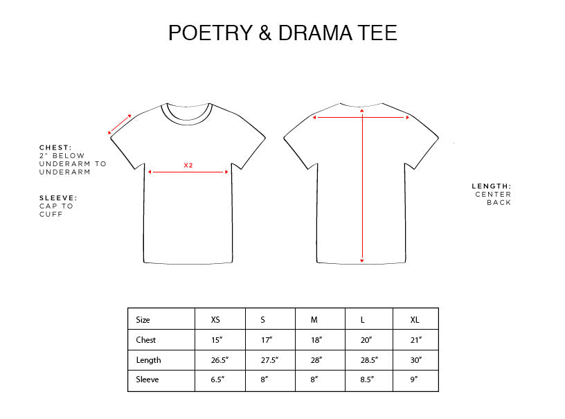 POETRY AND DRAMA TEE