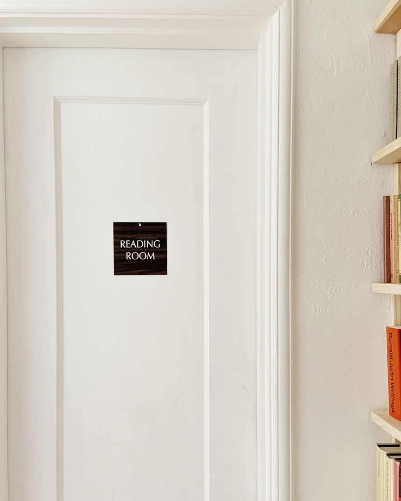 'Reading Room' Plaque