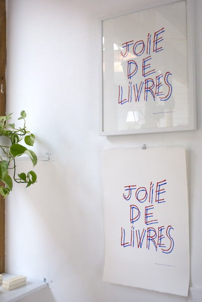 JOIE DE LIVRES PRINT by Mary Matson for Book/Shop