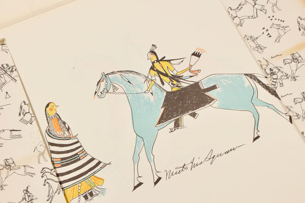 SIOUX INDIAN DRAWINGS by Red Hawk, et al
