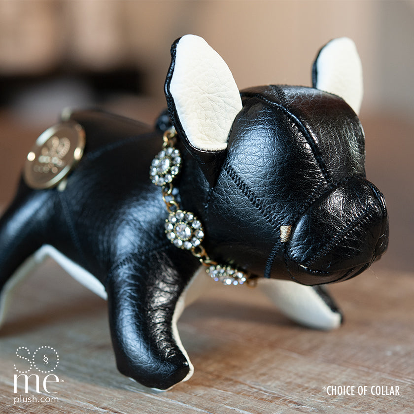 Leather Chaps, Black, French Bulldog Standing Plush, Teacup/Small/Large