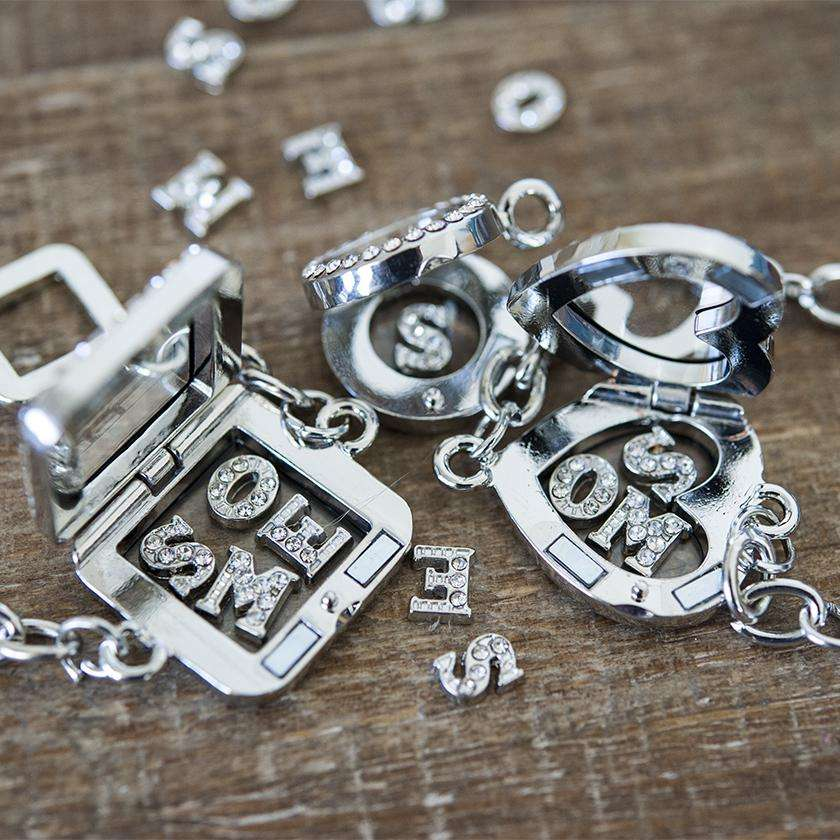 Floating Locket Mini Letter Charms