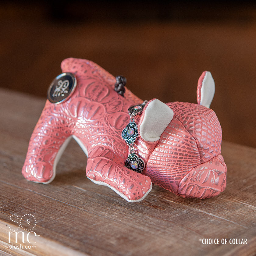 Tick Tock Croc, Pink, French Bulldog Playing Plush