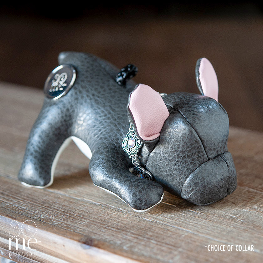 Au Naturel Grey, French Bulldog Playing Plush