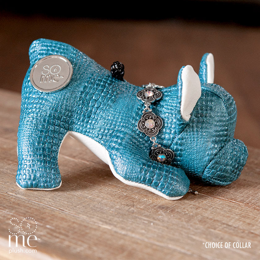 Crocodile Tears, Blue, French Bulldog Playing Plush