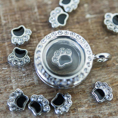 Floating Locket Dog Paw Charm