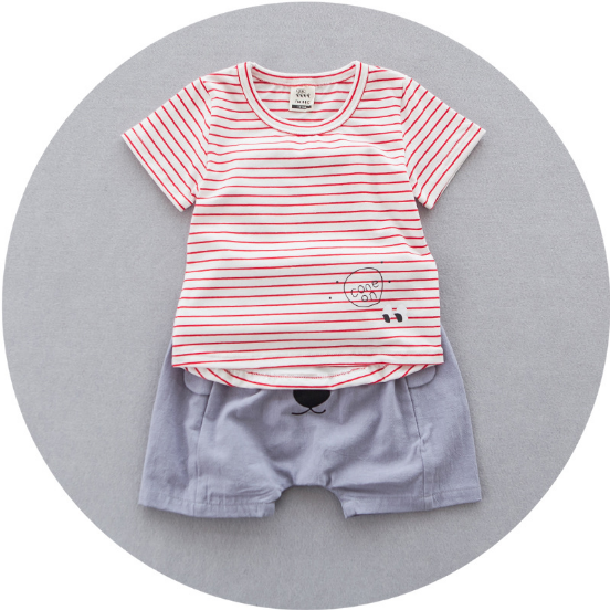 Red Stripes Top 2 pc Set