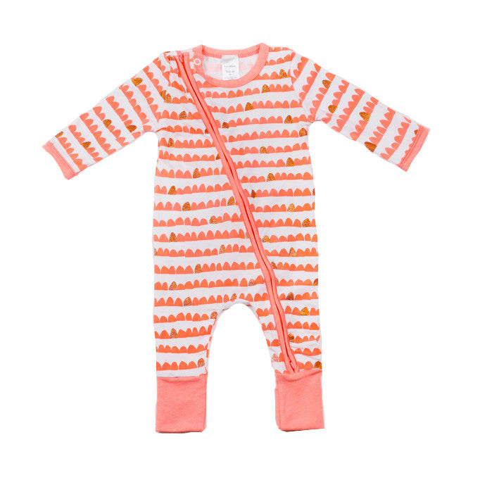 Wave and Shimmering Zip Sleepsuit