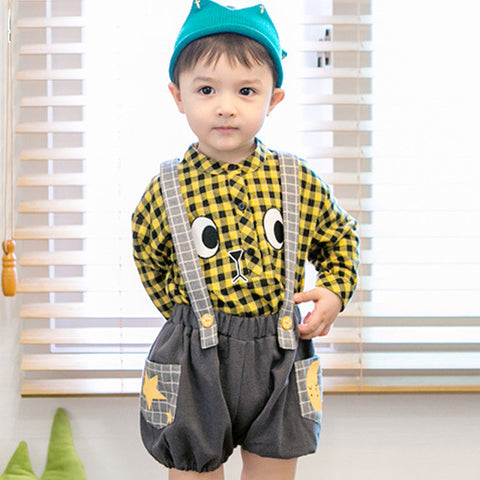 Checker Suspender Shorts