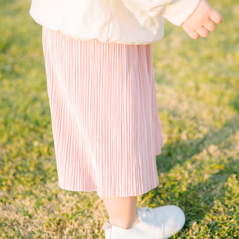 Pleats Midi Skirt - Pink