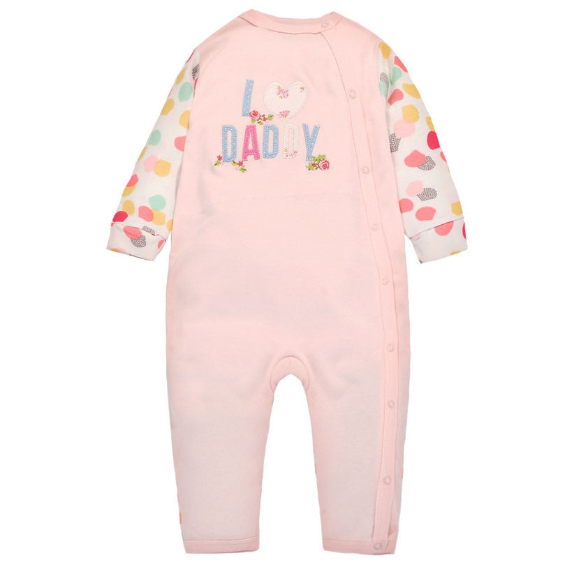 I Love Daddy Sleepsuit in Pink