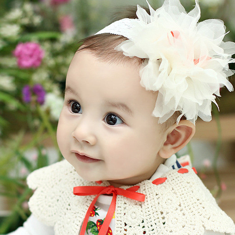 Lace Flower Headband (White)