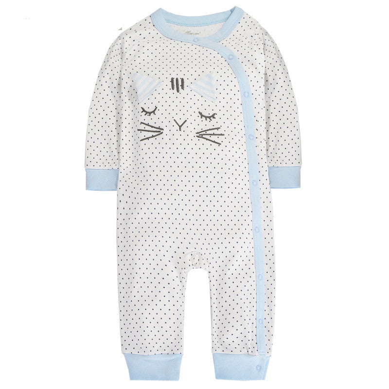 Polka Dots Kitty Sleepsuit