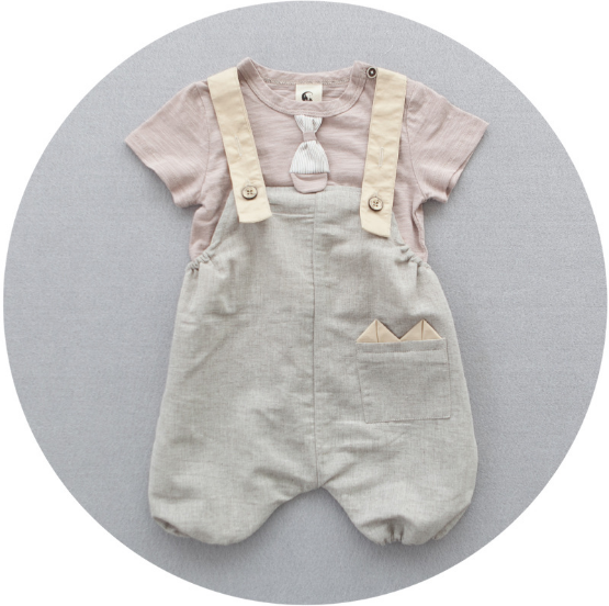 Dusty Pink Overall 2 pc Set