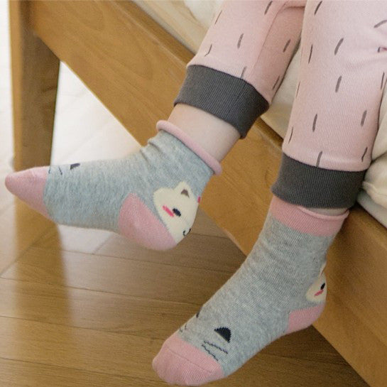 Dusty Pink Bear Socks