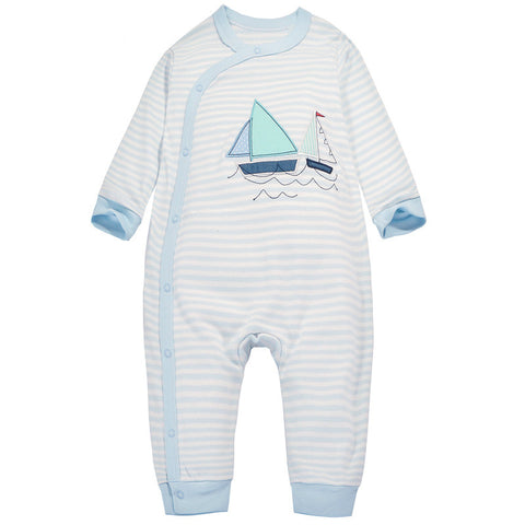 Blue Stripes & Yard Sleepsuit