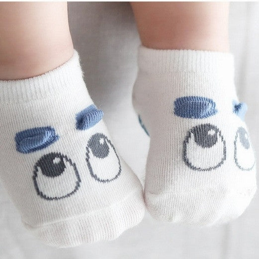 Big Eye Blue Eye Brow Socks